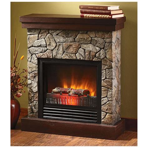 castlecreek electric stone fireplace heater electric