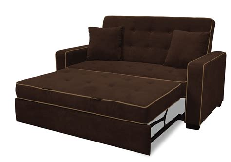 living spaces leather sofa brown tufted sleeper sofa with folding bed and arm in