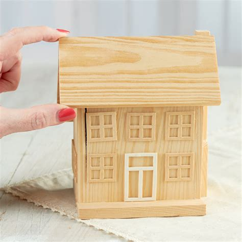 unfinished wood village house wood craft kits