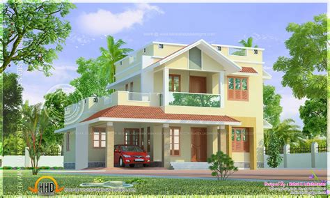 home design by two storied home design kerala home design