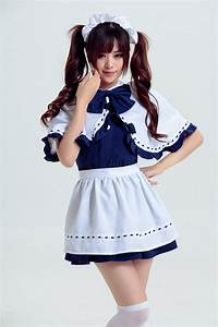 Women Kawaii Maid Dress Maidservant Costume Party Lolita ...