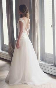 Des robes de mariee a dos nu mademoiselle dentelle for Robe de mariée dentelle dos
