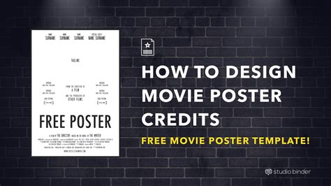 credits template your free poster template for photoshop studiobinder