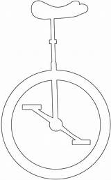 Silhouettes Unicycle Outline sketch template