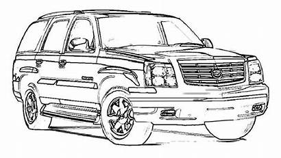 Escalade Coloring Pages Adhd Cadillac Cars Exotic