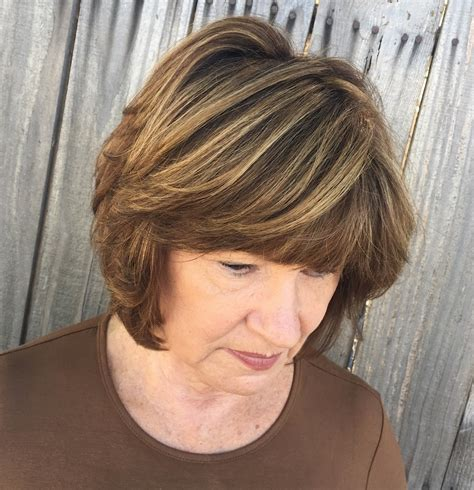 super flattering hairstyles  bangs  older women