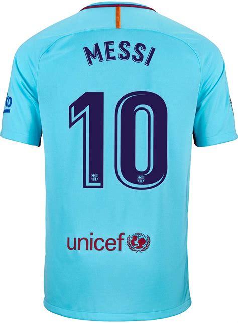 Nike Kids Lionel Messi Barcelona Away Jersey 2017 18