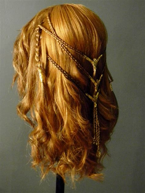 hair styling for viking shieldmaiden celtic braid costume wig side by 4680