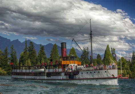 Steam Boat Old by Sailing Lake Wakatipu On The Old Tss Earnslaw Steamboat