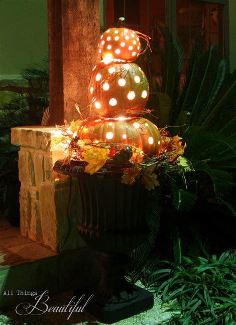 All Things Beautiful Diy Fall Porch {pumpkin Topiary}