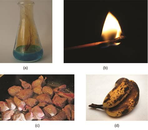 chemical physical properties chemistry reaction evidence change changes copper examples gas reactions chem acid example combustion form into nitrate liquid