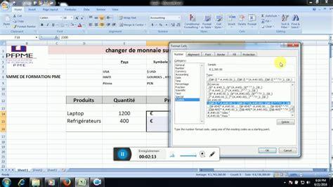 Format Exle by Excel Ajouter Une Monnaie Dans Un Format Mon 233 Taire