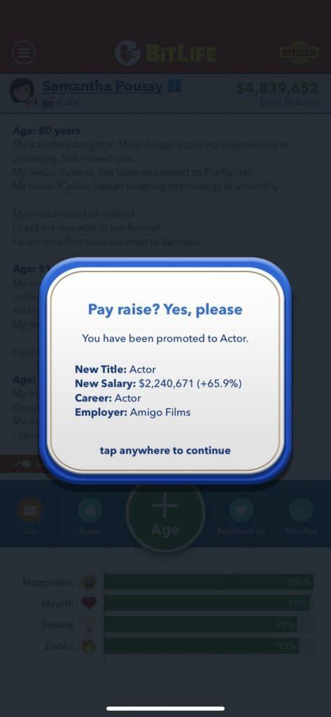 bitlife famous become celebrity superstar updated age