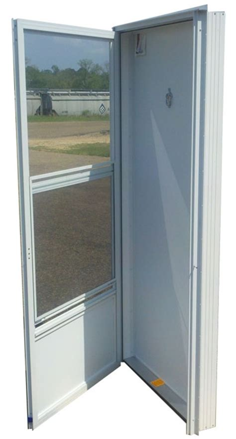 34x80 Aluminum Solid Door With Peephole Rh For Mobile Home