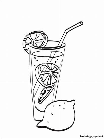 Lemonade Coloring Pages Sketch Pitcher Drawing Stand