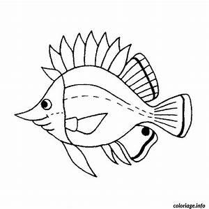 Comment Dessiner La Mer : coloriage poisson mer dessin ~ Dallasstarsshop.com Idées de Décoration