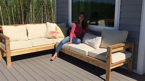 build   outdoor sectional tutorial youtube