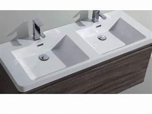 Waschbecken 120 Cm : badm bel waschbecken handwaschbecken meuble teck badezimmerschrank h ngen 120 cm mit ~ Markanthonyermac.com Haus und Dekorationen