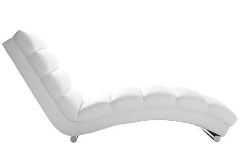 chaise desing chaise longue fauteuil design blanc miliboo