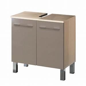 Waschbeckenunterschrank 40 Cm Tief : waschbeckenunterschrank alessandria cappuccino hochglanz ~ Lateststills.com Haus und Dekorationen