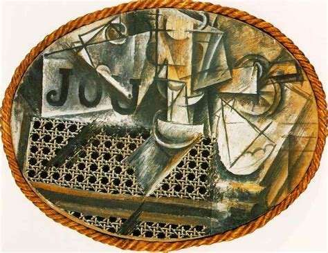 still with chair caning materials picasso s still with chair caning image from http