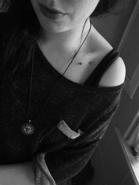 collarbone piercing  tumblr
