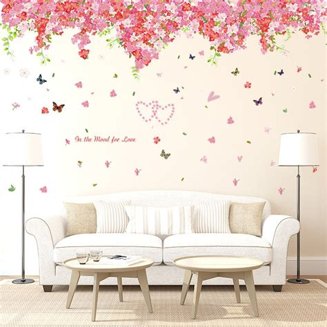 large beautiful cherry blossom wall stickers decals red