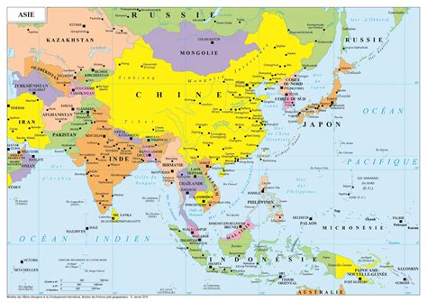 Thailande Carte Geographique Monde by Asie