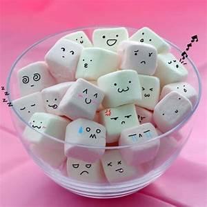 Blong Cute Faces Kawaii Marshmallows - PicShip on we heart ...
