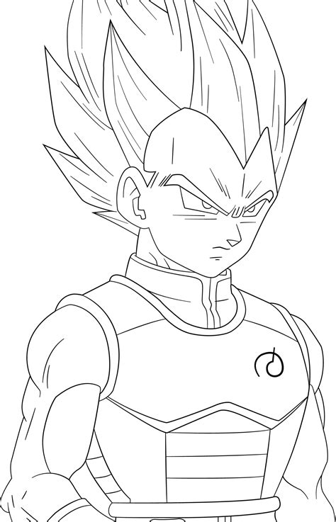 Vegeta Ssj Blue Free Colouring Pages