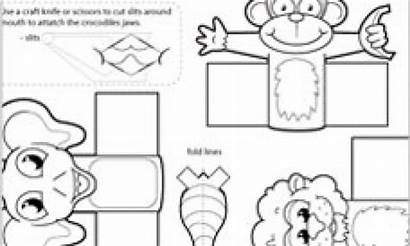 Jungle Puppet Puppets Finger Template Craft Easy