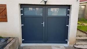 Portes de garage for Porte garage pvc 2 vantaux