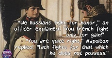 Students of History: Napoleon in Russia Quote