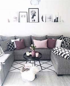 Schwarz Weiß Wohnzimmer : schwarz wei lila wohnzimmer pinterest living room decor living room und room ~ Orissabook.com Haus und Dekorationen