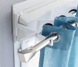 Barre Rideau Fixation Plafond : un syst me innovant double barre qui permet d 39 installer en ~ Premium-room.com Idées de Décoration