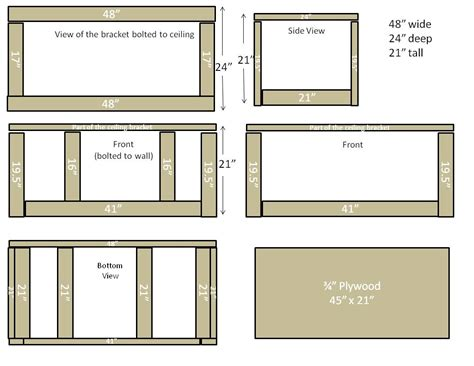 Custom Diy Garage Overhead Cabinet Plans Using Plywood And