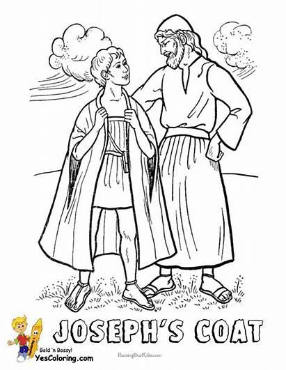 Coloring Joseph Coat Jesus Bible Colors Many