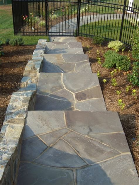 how to install a flagstone walkway mortar