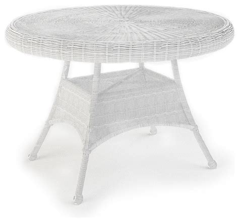 white round outdoor dining table rockport 42 in round patio dining table white wicker