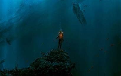 Ocean Fantasy Deep Sea Wallpapers Diving Under