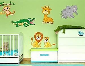 Leuchtsterne Für Kinderzimmer : wandsticker safari tiere b x h 40cm x 26cm von klebefieber kinderzimmer w nde wandtattoos ~ Watch28wear.com Haus und Dekorationen