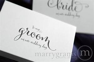 wedding card to your groom on your our wedding day With gift for groom on wedding day