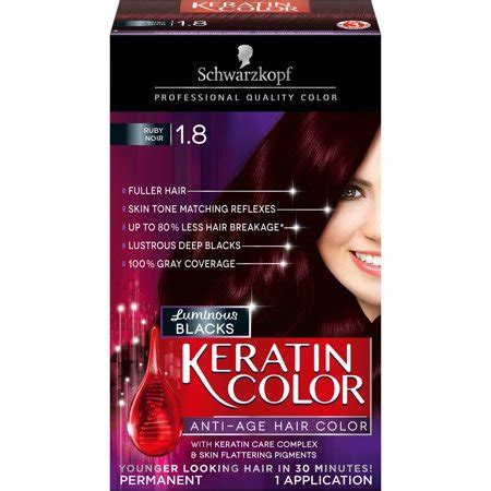 hair color at walmart schwarzkopf keratin color anti age hair color kit