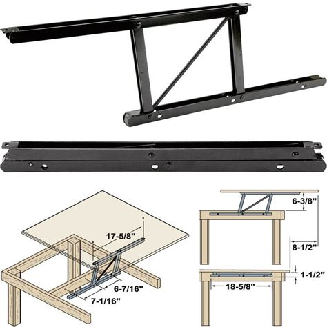 lift top table hardware woodtek 164228 hardware table folding table hardware