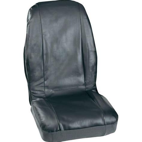 siege auto conducteur housse de siège 4 pièces petex 3007004 cuir synthétique