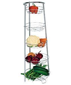 kitchen vegetable storage rack durable high quality 5 tier chrome finish vegetable 6380