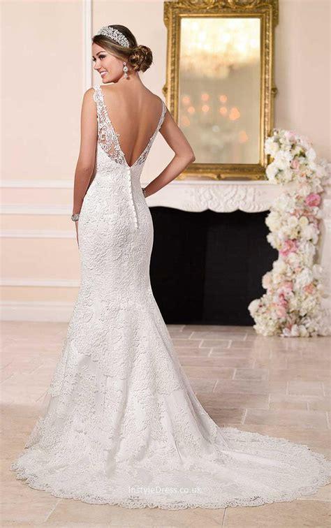 backless wedding dress lace illusion bateau neck backless mermaid lace
