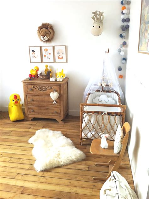 chambre de bébé vintage inspirations idées déco pour une chambre bébé nature et