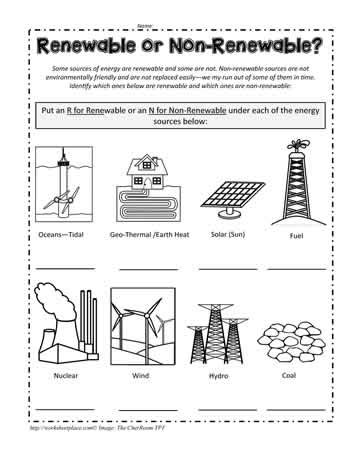renewable energy worksheets the best and most