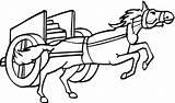 Coloring Colorir Desenho Carro Doki Horse Desenhos Cavalo Imagenes Carruagem Colouring Pferd Streitwagen Ausmalbilder Che Paard Puxando Uma Chariot Pulling sketch template